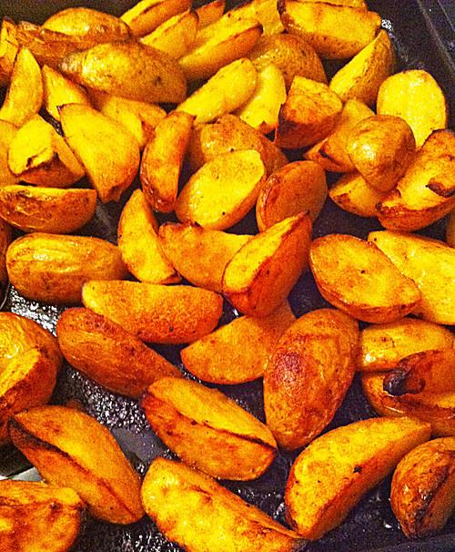Rezept: Würzige Kartoffelecken selber machen