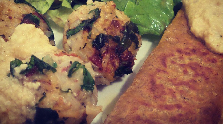 Rezept vegane Reisbällchen mit Petersilie