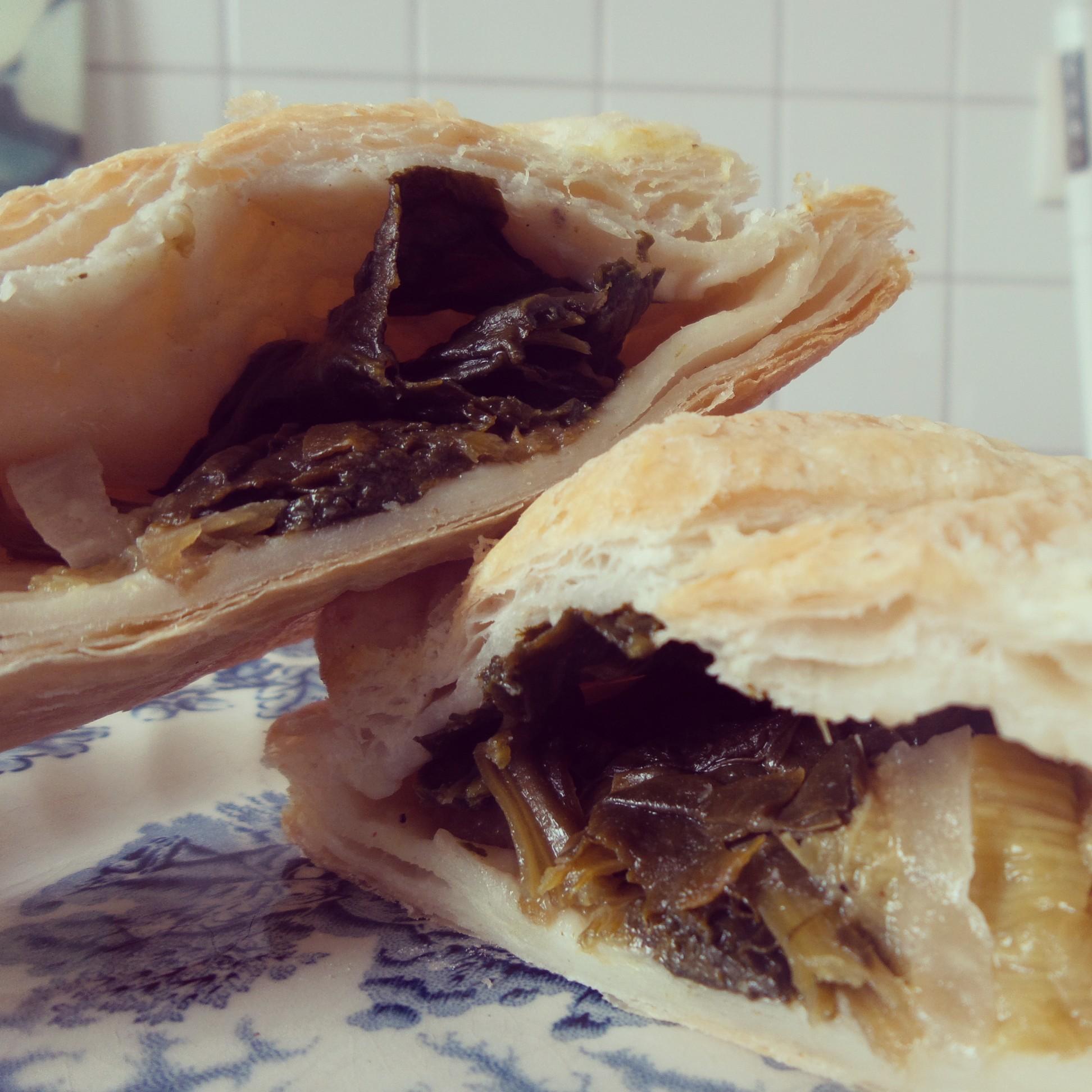 Rezept Spinat-Rhabarber-Taschen Vegan