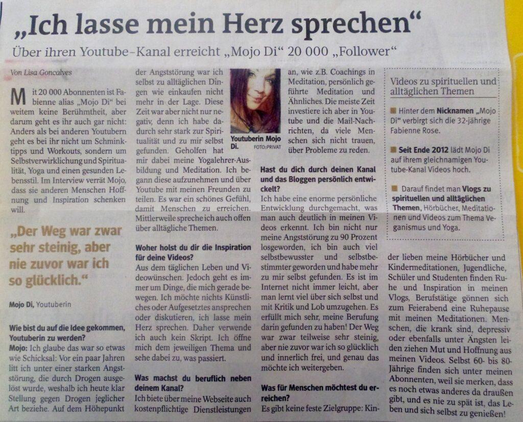 Mojo Di Meditationen Zeitung