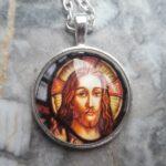 Jesus Heiliger Glaskuppelanhänger Talisman