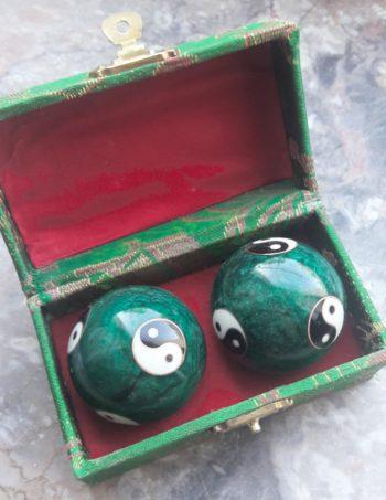 Qi Gong Chinesische Klangkugeln grün