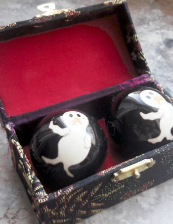 Chinesische Qi Gong Klangkugeln schwarz