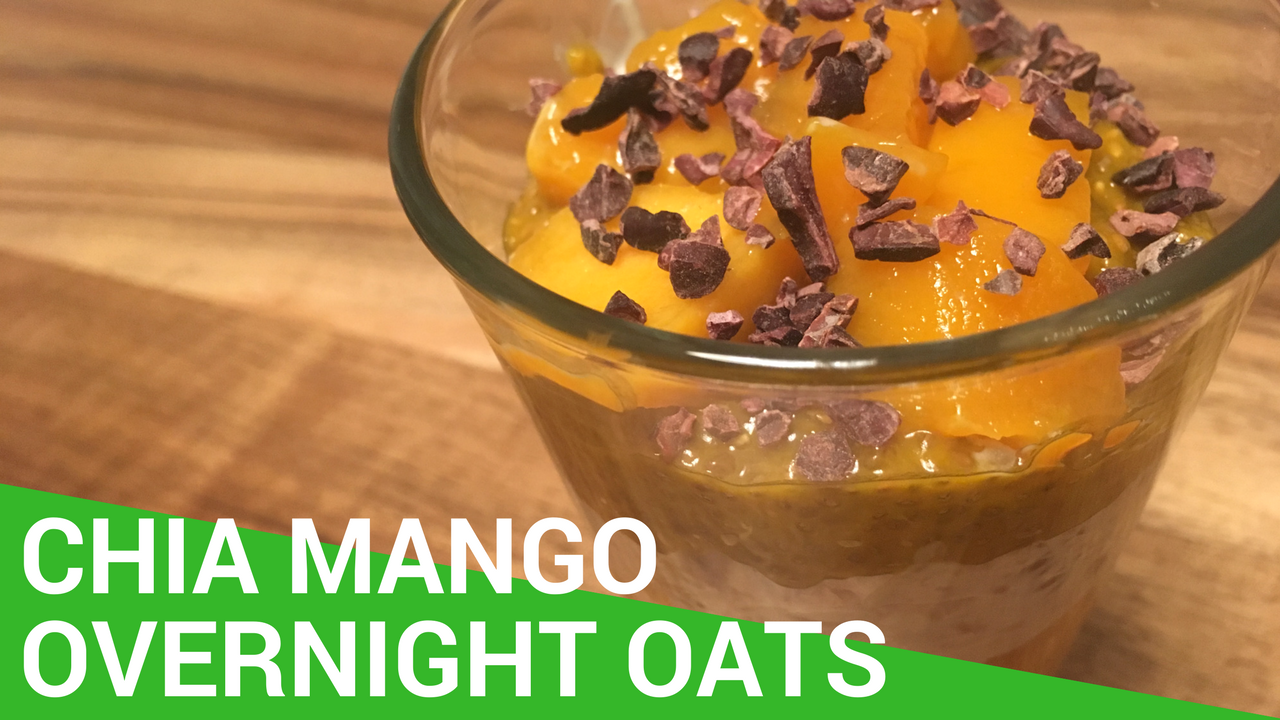 rezept overnight oats mit chia pudding und mango vegan. Black Bedroom Furniture Sets. Home Design Ideas
