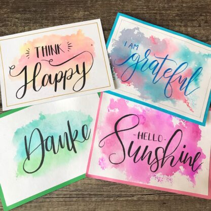 Handlettering Watercolor Card