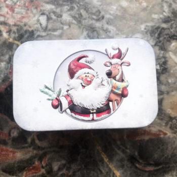 Geschenkdose Weihnachtsmann rot weiß