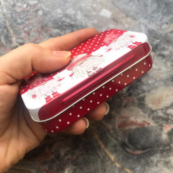 Geschenkdose Weihnachtswichtel rot weiß