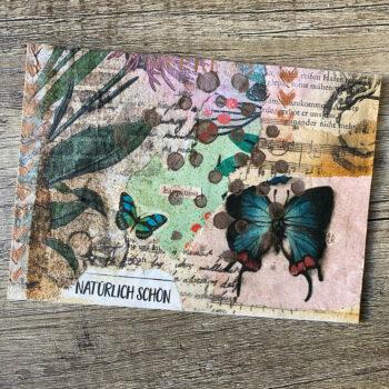 Handmade Vintage Postkarte