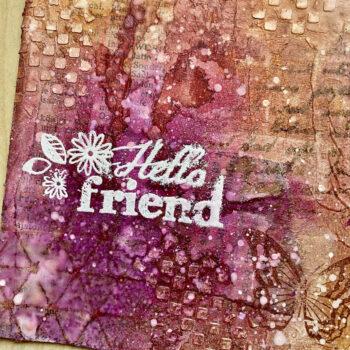 Handmade Mixed Media Postkarte