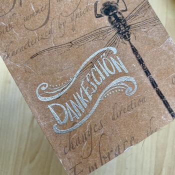 Handmade Postkarte Decoupage Embossing