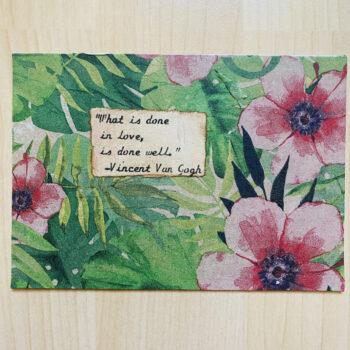 Handmade Postkarte Blumen