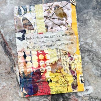 Handmade Postkarte Collage