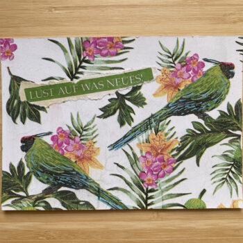 Handmade Postkarte Jungle